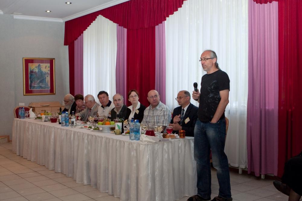 A. Voronkov is speaking