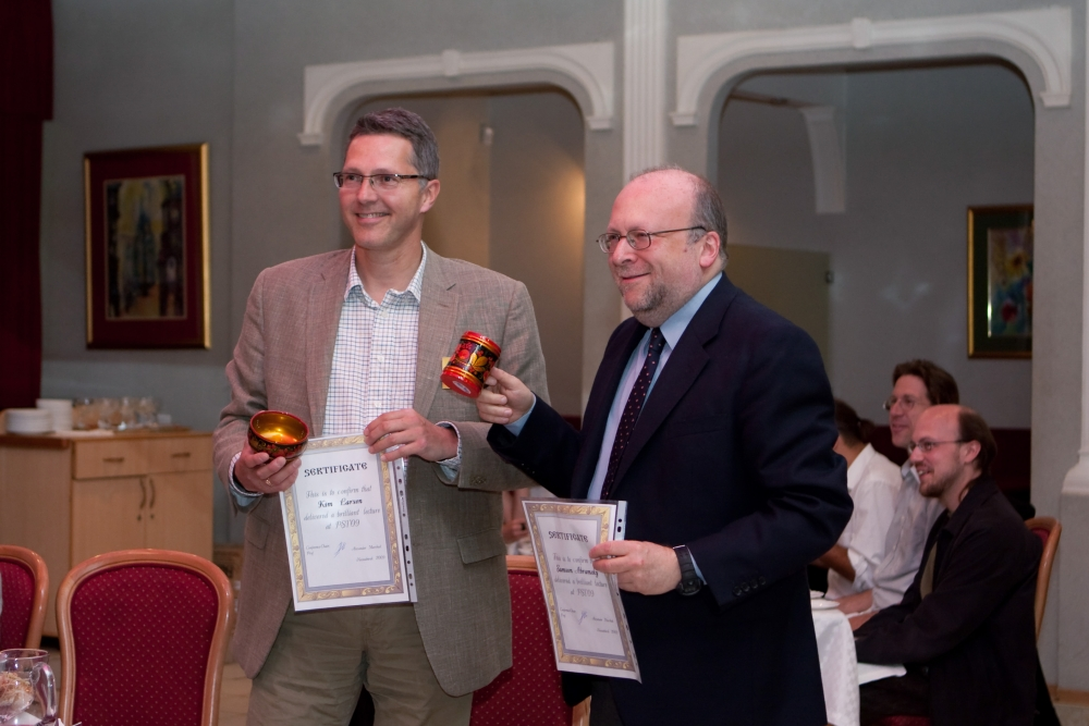 Prof. K. Larsen and prof. S. Abramsky have received diplomas